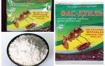 Hamamböceği Fas anlamına gelir: tabletler, jel ve toz