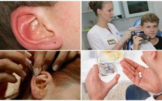 Bir kişinin kulağını işaretleyin: semptomlar ve tedavi
