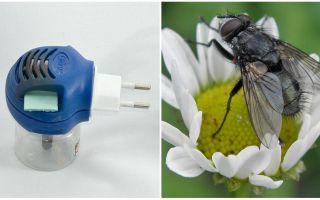 Çıkışta sinekler ve sivrisinekler gelen Fumigators