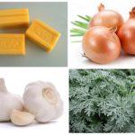 Çamaşır sabunu, soğan, sarımsak ve pelin
