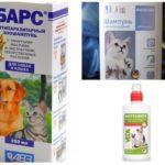 Kediler ve köpekler için pire şampuanları