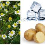 Papatya, çiğ patates ve buz