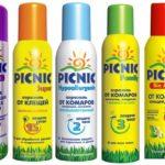 Sivrisinek için piknik aerosolleri