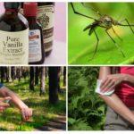 Vanilin bazlı sivrisinek kovucu