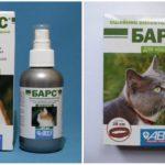 Kediler için kenelere karşı yaka ve sprey Leopar