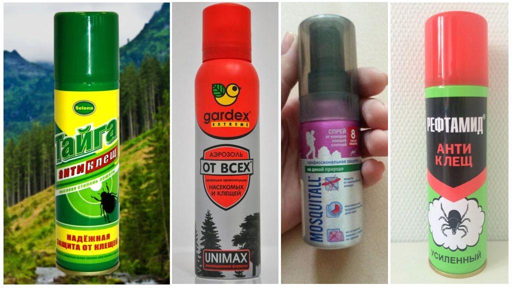 Kenelere karşı koruma sağlayan aerosoller