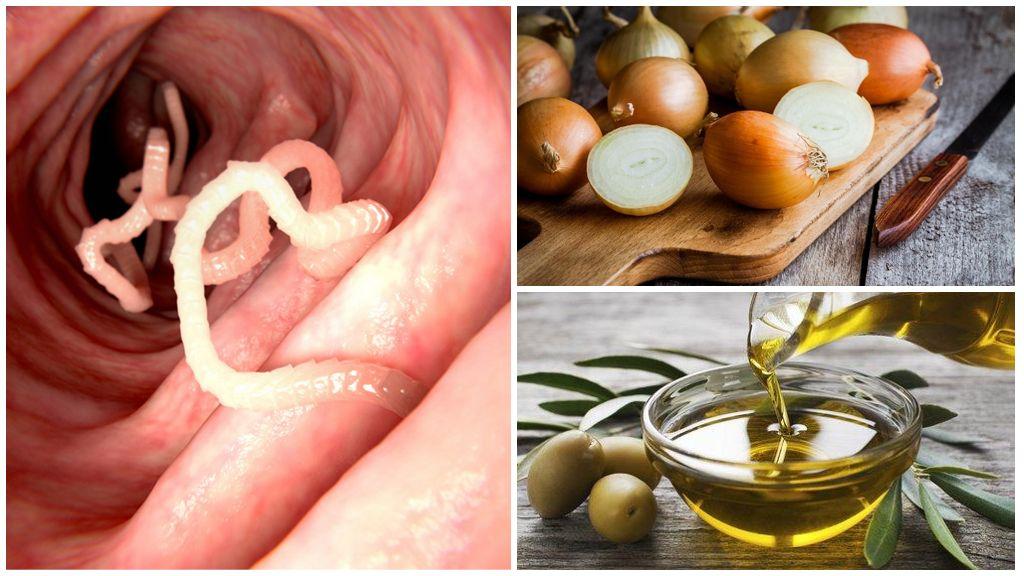 Enterobiasis için soğan ve tereyağı