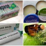 Enterobiasis ile anüsün yağlanması için araçlar